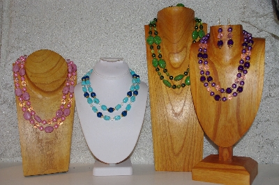 Mama Bears One Of A Kind 2 Strand Bead Necklace & Earring Sets