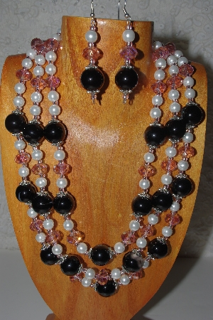 Mama Bears One Of A Kind Hand Made 3 Strand Necklace & Earring Sets