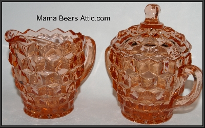 Vintage Pink Glassware: Vintage, Antique, New & Reproduction  Glass Cream & Sugar