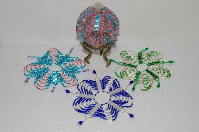 BEADED ORNAMENT COVERS PATTERNS | FREE PATTERNS