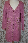 "MBA #8016  ""StoryBook Knits Limited Edition Mauve Long Sweater"