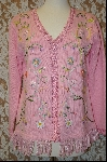 "*MBA #8009  ""StoryBook Knits Limited Edition Pink Ribbion Trimmed Sweater"