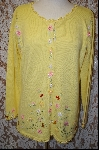 "MBA #7989   ""StoryBook Knits Limited Edition Bright Yellow Floral Sweater"