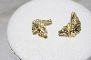 "MBAMG #79-048  ""14K Yellow Gold Italian Made Crocodile Artform Earrings"""