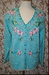 "*MBA #7980   ""StoryBook Knits Limited Edition Turquoise Blue Bird Sweater"