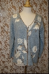"MBA #7968  ""StoryBook Knits Limited Edition Grey Floral Sweater"