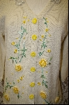 "MBA #7960   ""StoryBook Knits Limited Edition Light Yellow Floral Sweater"