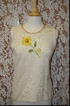 "*MBA #7925  ""StroyBook Knits Pale Yellow Daisy Tank"