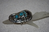"**MBATQ #1-1063  ""Artist Signed Fancy Blue Turquoise & Bear Claw Bracelet"""