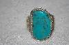 "**MBATQ #1-1076  ""Artist Signed Blue Turquoise Cuff Bracelet"""