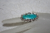 "**MBATQ #1-1129  ""Artist Signed Fancy Blue Turquoise Ring"""