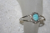 "**MBATQ #1-1173  ""Artist Signed Blue Turquoise Cuff Bracelet"""