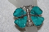 """SOLD"" MBATQ #2-034  ""Fancy Artist Signed Large Green Turquoise Butterfly Cuff Bracelet"""