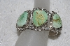 "**MBATQ #2-122  ""Fancy Artist Signed Green Turquoise Cuff Bracelet"""