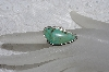 "**MBATQ #2-199  ""Artist Signed Green Turquoise Ring"""