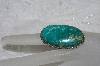 "**MBATQ #2-184  ""Artist Signed Green Turquoise Ring"""