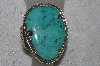 "**MBATQ #2-179  ""Large Beautiful Artist Signed Green Turquoise Cuff Bracelet"""