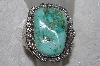 "**MBATQ #2-173  ""Fancy Artist Signed Green Turquoise Cuff Bracelet"""