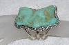 "**MBATQ #3-188  ""Artist Signed Large Beautiful Green Turquoise Cuff Bracelet"""
