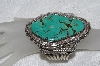 "**MBATQ #3-162  ""Huge Artist Signed Green Turquoise Cuff Bracelet"""