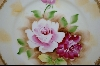 **Vibrant Rose Hand Painted Plate