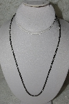 "**MBATQ #3-333   ""22"" Italian Made Fancy Silver Chain"""