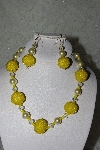 "MBAHB #27-051  ""One Of A Kind Yellow Bead Necklace & Earring Set"""