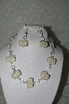 "MBAHB #27-079  ""One Of A Kind Clear Bead & Crystal Necklace & Earring Set"""