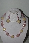 "MBAHB #003-227  ""One Of A Kind Pink Bead & Gemstone Necklace & Earring Set"""