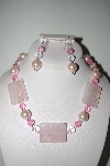 "MBAHB #013-215  ""One Of A Kind Pink Bead Necklace & Earring Set"""
