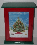 """SOLD"" MBA #3232-0270   "" 2004 Thomas Pacconi Advent Cabinet  & 24 Ornaments"""