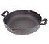 "**MBAMG #003-17192  ""Paula Dean Hammered Cast Iron 12"" Everyday Pan With Pour Spouts"""