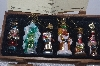 "**MBAMG #019-114   ""Thomas Pacconi Set Of 6 Blown Glass Christmas Story Ornaments"""