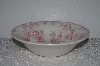 "+MBAMG #019-074    ""Queen's China Chelsea Toile Pink Round Vegdtable Serving Bowl"""