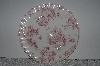 "+MBAMG #019-065  Set Of 4    ""Queens China Pink Chelsea Toile Dinner Plate"""