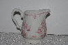 "+MBAMG #019-078    ""Queens China Pink Chelsea Toile Creamer"""