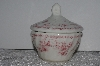 "+MBAMG #019-081   ""Queens Pink Chelsea Toile Sugar Bowl With Lid"""