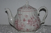 "+MBAMG #019-057   ""Queens China Pink Chelsea Toile Coffee Pot With Lid"""