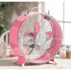 "MBAMG #T06-057     ""Salton Pink Retro Diner 2-Speed Fan"""