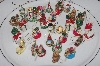 "**MBAMG #T06-013  ""1980's Set Of 36 Miniature Resin Christmas Ornaments"""