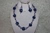 "MBAHB #24-028  ""One Of A Kind Lavender & Blue Bead Necklace & Earring Set"""