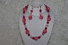 "MBAHB #24-058  ""One Of A Kind Pink & Clear Bead Necklace & Earring Set"""