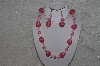 "MBAHB #24-063  ""One Of A Kind Pink & Clear Bead Necklace & Earring Set"""