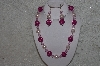 "MBAHB #24-073  ""One Of A Kind Pink Bead Necklace & Earring Set"""
