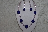 "MBAHB #24-078  ""One Of A Kind Blue, Clear & Pink Bead Neklace & Earring Set"""