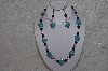 "MBAHB #24-083  ""One Of A Kind Blue & Pink Bead Necklace & Earring Set"""