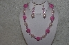 "MBAHB #24-093  ""One Of A Kind Pink Bead Necklace & Earring Set"""