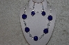 "MBAHB #24-113  ""One Of A Kind Blue & Clear Bead Necklace & Earring Set"""