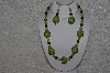 "MBAHB #24-173  ""One Of A Kind Green & Purple Bead Necklace & Earring Set"""