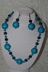 "MBAHB #24-141  ""One Of A Kind Blue Bead Necklace & Earring Set"""
